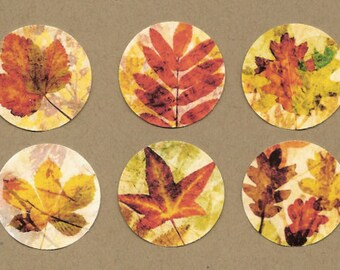 Stickers, Autumn, Fall Stickers, Fallen Leaves, Sticker Seals
