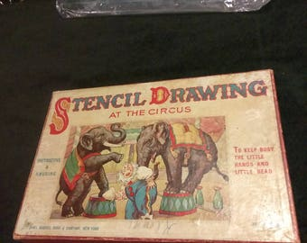 Antique Sam'l Gabriel Sons & Company NY Stencil Drawing At The Circus!
