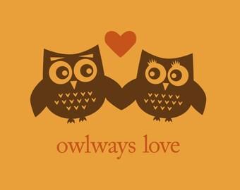 Owlways Love art print