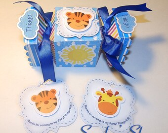 10 Noah's Ark candy box, Noah's Ark baby shower favor box, Noah's Ark baby shower tags, Noah's Ark Baby Shower Party Supplies