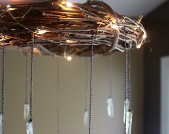 Bohemian Mobile Bohemian Decor Rustic Lighted Chandelier