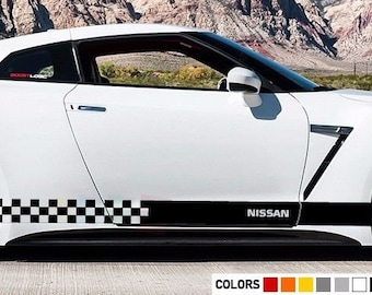 Sticker Decal For Nissan GTR R35 Xenon Side Front CARBON Light Mirror Bumper