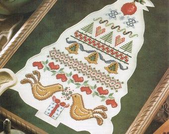 Scandinavian Christmas Tree Cross Stitch Pattern - Christmas Tree Cross Stitch Chart - Christmas Decor Pattern