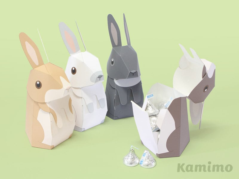 Easter bunny rabbit favor boxes gift boxes spring zoom negle Images