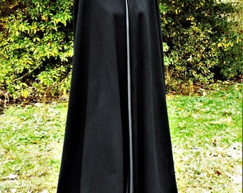 Men's Black Wool Cloak