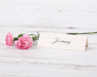 Table Place Cards Folded Rustic Vintage Pretty