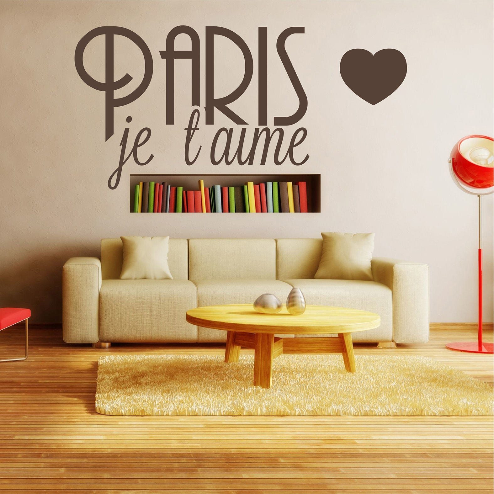 Paris je t\' aime Wall decal Eiffel Tower wall decal I