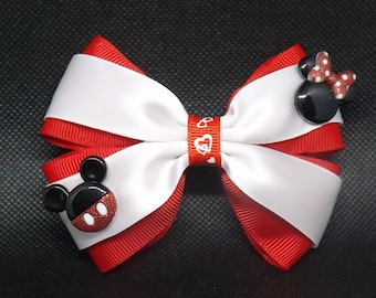 Medium Minni and Mickey mouse Charm Bow