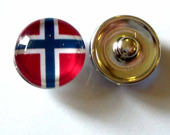 1 snap Chunk Norway flag clip MED25 28mm