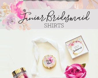 Junior Bridesmaid Shirt Junior Bridesmaid Gift Ideas - (EB3161GRLW) Jr Bridesmaid Gift Shirt