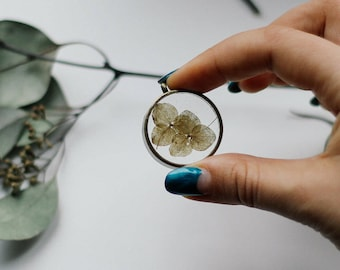 Real Flower Necklace Botanical Necklace Resin Flower Necklace Dry Flowers Jewelry Plant Jewelry Necklace Botanical Jewelry Gift for her