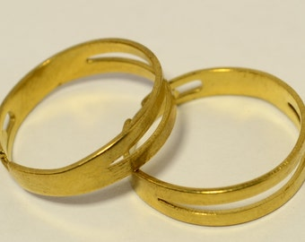 12 Pcs Raw Brass 19  mm Ring Supplies
