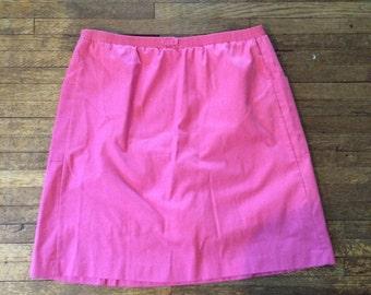 Vintage pink a-line skirt elastic waist Pop-o Naples, medium