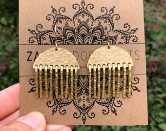 Textured Earrings | Gold Earrings | Hammered Earrings | Earrings