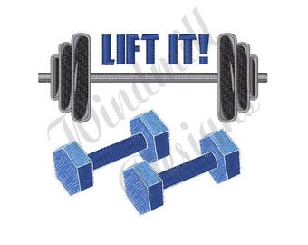 Weight Lifting - Machine Embroidery Design