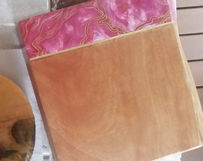 African mahogany cheeseboard customised with original artwork by mineralphotos
