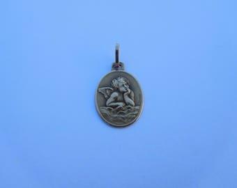 Beautiful Rare French Art Nouveau 18K Gold Small Raphael Angel Dropsy Pendant Charm !