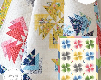 Desert Windmills Quilt Paper Pattern