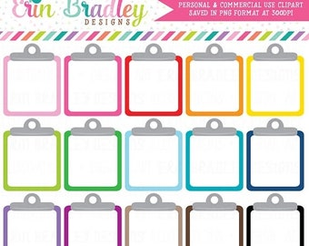 80% OFF SALE Clipboard Clipart Graphics Personal & Commercial Use Note Paper To Do List Clip Art