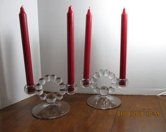 Imperial CANDLEWICK double Candle Holders ~ Excellent