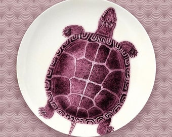 turtle anemone red turtle plate