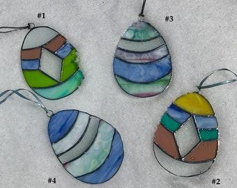 Stained Glass Easter Egg Suncatchers - pastel goodness
