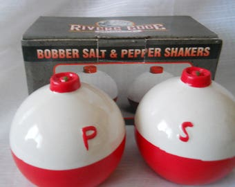 Bobbers Salt and Pepper Shakers - vintage, collectible