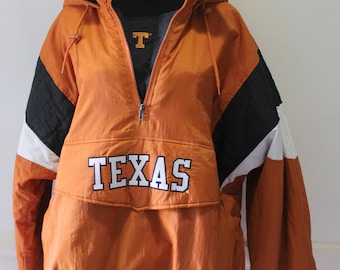 Vintage NEW Texas Longhorns Majestic Pullover Puffy Parka Jacket Coat 1990s
