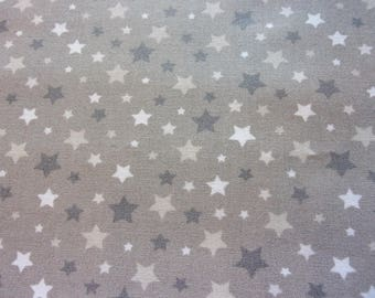 fabric star taupe and grey 50 * 70 cm