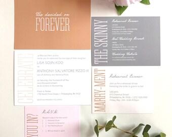 Simple and Modern Wedding Invitation
