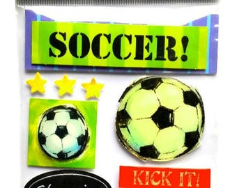 3D Football 19.5 x 11.5 cm creative cardmaking scrapbooking stickers