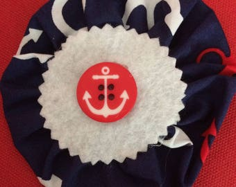 Nautical anchor rosette brooch
