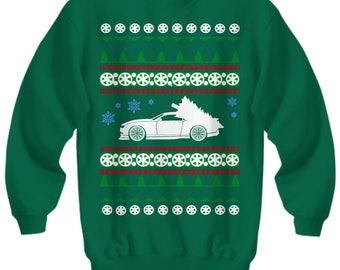 Chevy Camaro Ugly Christmas Sweater LS motor Sweatshirt  holidays drag racing american iron hot rod