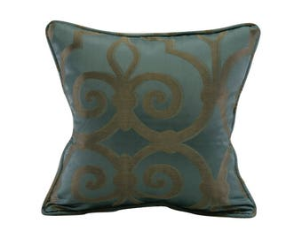 Sapphire Large Geometric Corded Decorative Pillow Cover 18x18