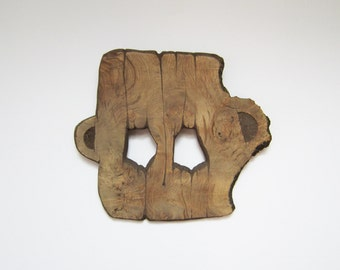 Hand carved Wood mask original wood art