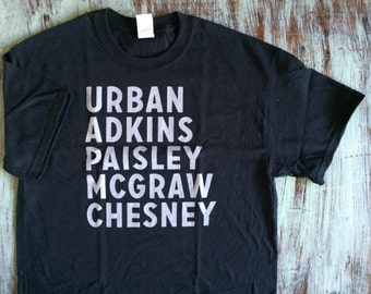 90's Country Music Men - (Late 90's) - Urban, Adkins, Paisley, McGraw, Chesney