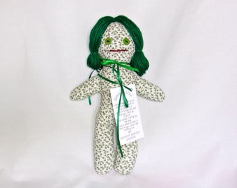 STRESS RELIEF DOLL Shades of Green Dang It or Dammit