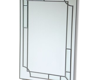 Leaded Mirror  36 x 24 inches