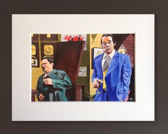 ONLY FOOLS & HORSES wall art - giclee print of 'Nice and Cool' fine art painting by Stephen Mahoney - iconic Del Boy falling through the bar