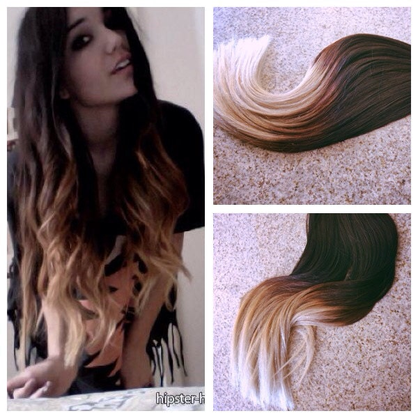 5 Star Ombre Balayage Cuticle Remy Hair Eurpopean Ombre Tape In