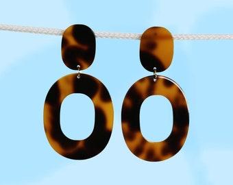 Tortoise Shell 60s Glam Earrings