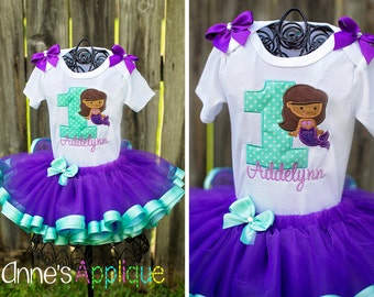 Mermaid Under the Sea Birthday Custom Tutu Outfit