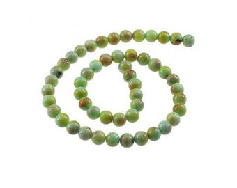 50 8mm shades of Green Jade beads
