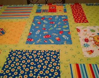 Crib, Baby, Child, Crib Quilt, Baby Quilt, Child Quilt, Bugs, Beetle