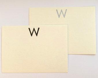 Monogrammed Notecards (letter press)