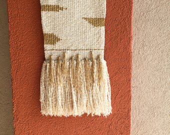 Gold & Cream Boucle Weaving
