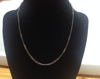 Vintage Silvertone Chain Necklace, Length 16''