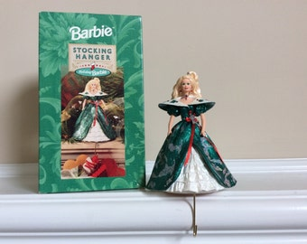 A Lovely Holiday Barbie Stocking Hanger, Hallmark.
