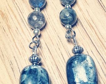 Boho gemstones black moonstones and labradorite