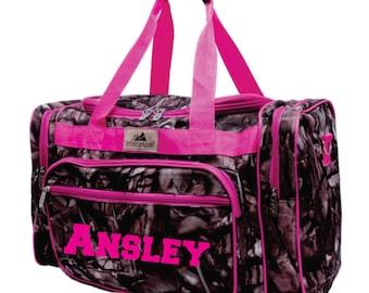 Monogram Pink Camo Duffle Bag